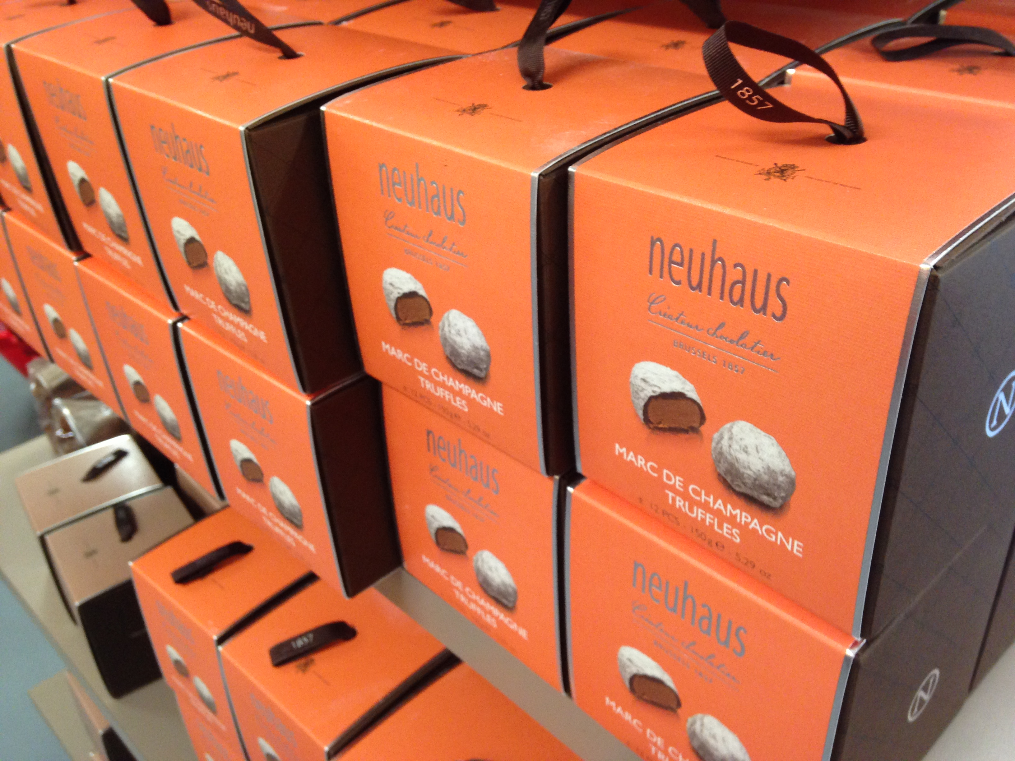Chocolat Neuhaus magasin d'usine