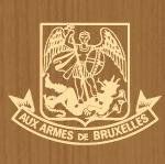Manger des moules aux armes de Bruxelles