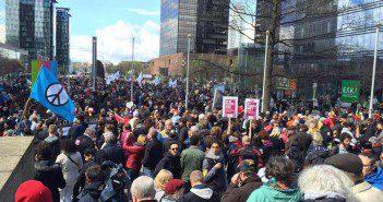 Marche contre la peur et terrorisme bruxelles avril 2016