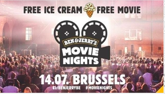Cinéma gratuit Ben & Jerry's Bruxelles