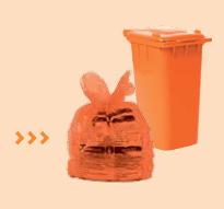 Sac poubelle orange