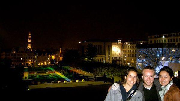 Où faire des photos à Bruxelles : Mont des Arts la nuit!