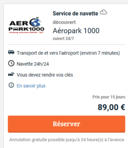 Test Parking Zaventem pas cher
