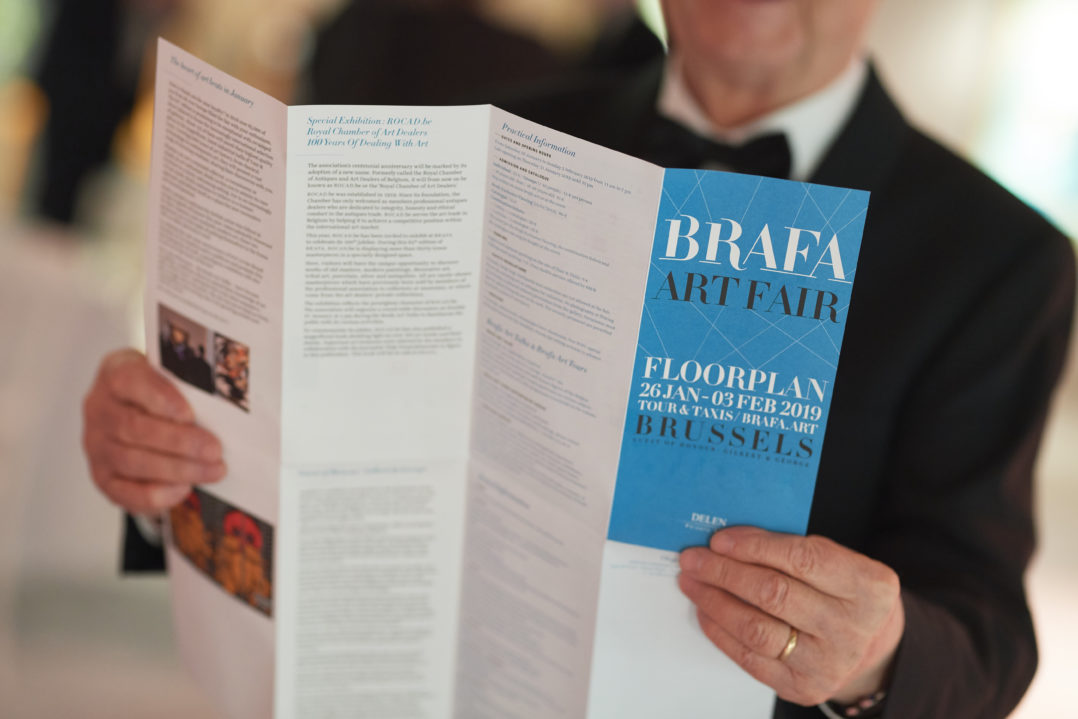 BRAFA 2019 Photo Presse BRAFA 2019 - Entrance hall Stand INFO © Fabrice Debatty