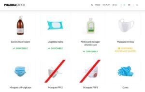 pharmaStock: savoir quelles pharmacies possèdent des masques FFP2
